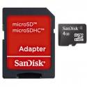 SanDisk 4 GB microSDHC + adaptér